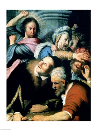 Christ Driving the Moneychangers from the Temple, 1626 Poster by Rembrandt van Rijn for $30.00 CAD