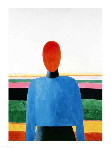 Bust of Woman Poster by Kazimir Malevich for $30.00 CAD