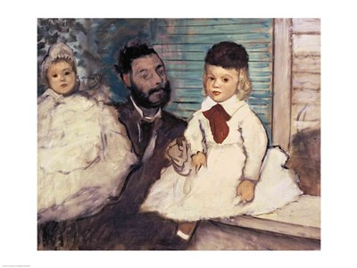 Comte Le Pic and his Sons Poster by Edgar Degas for $30.00 CAD