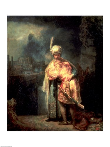 David and Jonathan, 1642 Poster by Rembrandt van Rijn for $30.00 CAD