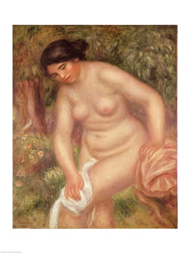 Bather drying herself, 1895 Poster by Pierre-Auguste Renoir for $30.00 CAD