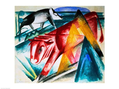 Animals, 1913 Poster by Franz Marc for $30.00 CAD