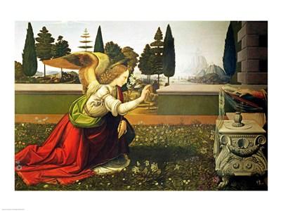 Angel Gabriel, from the Annunciation, 1472-75 Poster by Leonardo Da Vinci for $30.00 CAD