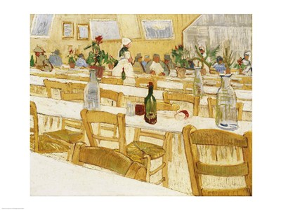 A Restaurant Interior, 1887-88 Poster by Vincent Van Gogh for $30.00 CAD