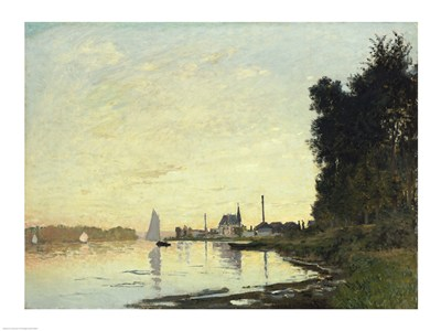 Argenteuil, Late Afternoon, 1872 Poster by Claude Monet for $30.00 CAD