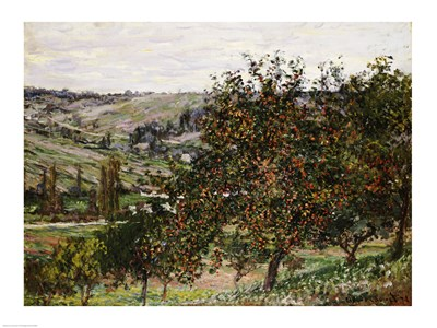 Apple Trees near Vetheuil Poster by Claude Monet for $30.00 CAD