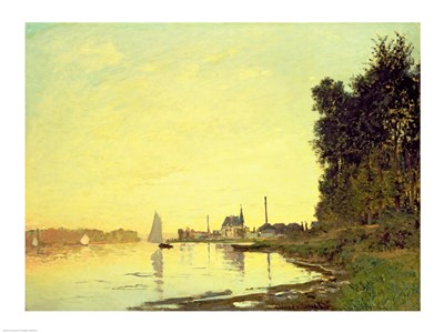 Argenteuil, at the End of the Afternoon, 1872 Poster by Claude Monet for $30.00 CAD