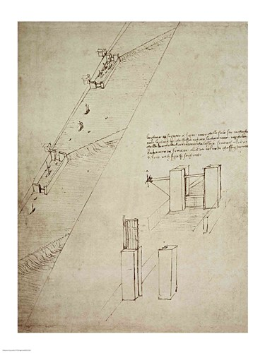 Design for a Lock Poster by Leonardo Da Vinci for $30.00 CAD