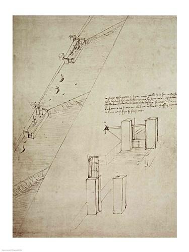 Design for a Lock Poster by Leonardo Da Vinci for $30.00 CAD