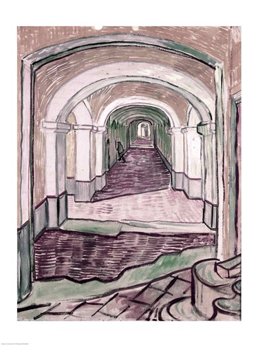 Arched Hallway Poster by Vincent Van Gogh for $30.00 CAD