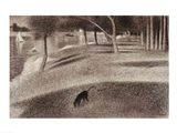 Study for Sunday Afternoon on the Island of La Grande Jatte (dog detail)