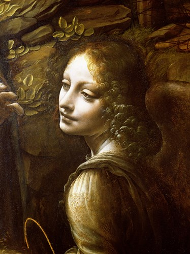 Detail of the Angel, from The Virgin of the Rocks Poster by Leonardo Da Vinci for $13.75 CAD