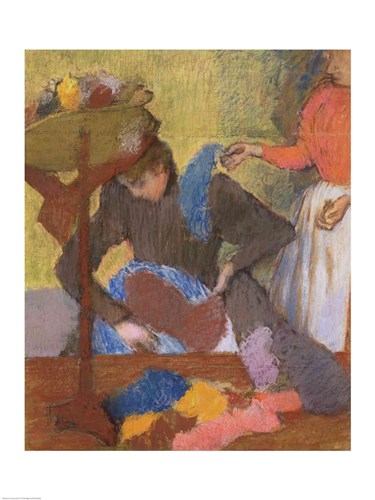 At the Milliner's Poster by Edgar Degas for $30.00 CAD