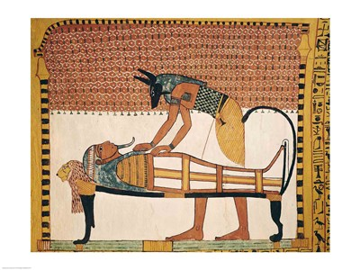 Anubis attends Sennedjem's Mummy Poster by Unknown for $30.00 CAD