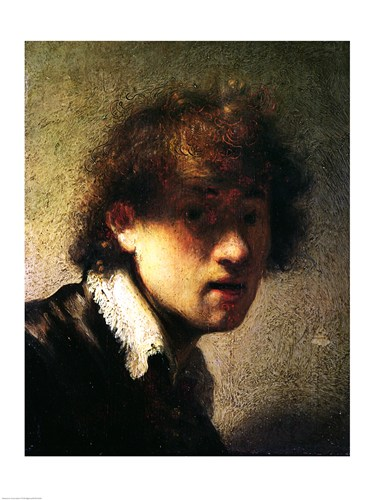 Head of a Young Man or Self Portrait, 1629 Poster by Rembrandt van Rijn for $30.00 CAD