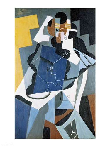 Figure of a Woman, 1917 Poster by Juan Gris for $30.00 CAD