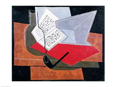 Bowl and Book Poster by Juan Gris for $30.00 CAD