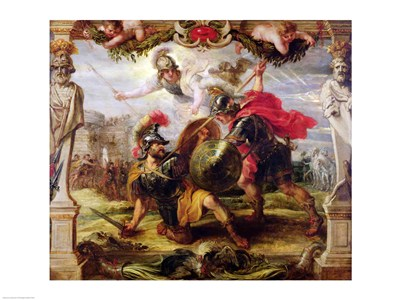 Achilles Defeating Hector Poster by Peter Paul Rubens for $30.00 CAD