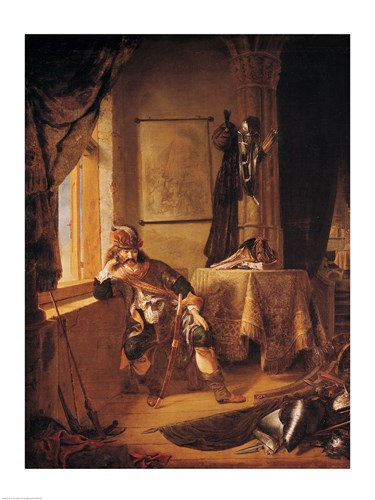 A Warrior in Thought Poster by Rembrandt van Rijn for $32.50 CAD