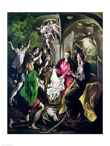 Adoration of the Shepherds Poster by El Greco for $32.50 CAD