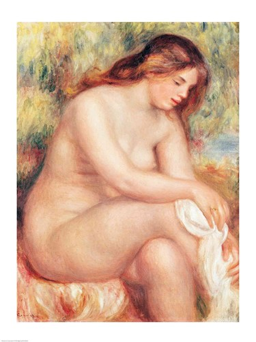 Bather Drying Herself Poster by Pierre-Auguste Renoir for $30.00 CAD