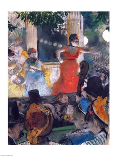 Cafe Concert at Les Ambassadeurs Poster by Edgar Degas for $30.00 CAD