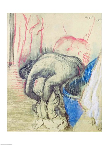 After the Bath, 1903 Poster by Edgar Degas for $32.50 CAD