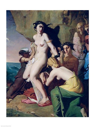 Andromeda Tied to the Rock by the Nereids, 1840 Poster by Theodore Chasseriau for $30.00 CAD