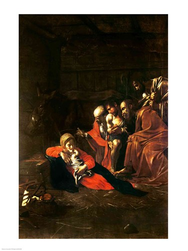 Adoration of the Shepherds Poster by Michelangelo Caravaggio for $32.50 CAD