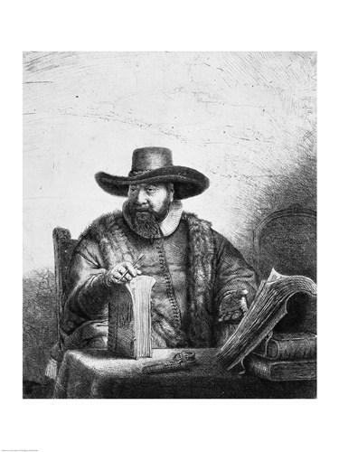 Cornelius Claesz Anslo Poster by Rembrandt van Rijn for $30.00 CAD