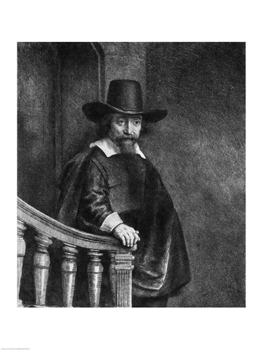 Ephraim Bonus, known as 'The Jew with the Banister' Poster by Rembrandt van Rijn for $30.00 CAD