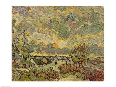 Autumn landscape, 1890 Poster by Vincent Van Gogh for $32.50 CAD