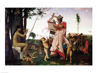 Anacreon, Bacchus and Aphrodite, 1848 Poster by Jean-Leon Gerome for $30.00 CAD