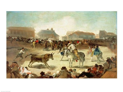 A Village Bullfight Poster by Francisco De Goya for $30.00 CAD