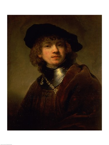 'Tronie' of a Young Man with Gorget and Beret, c.1639 Poster by Rembrandt van Rijn for $30.00 CAD