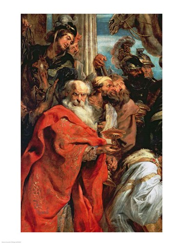 Adoration of the Magi - red garment Poster by Peter Paul Rubens for $32.50 CAD