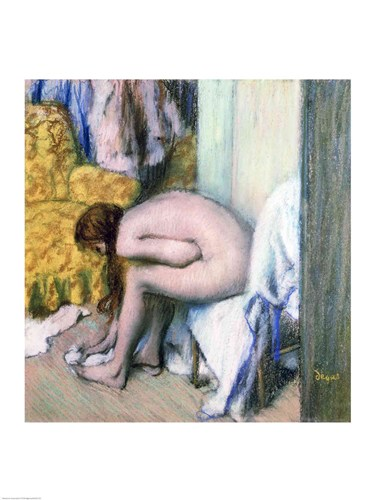 After the Bath, Woman Drying her Left Foot, 1886 Poster by Edgar Degas for $30.00 CAD