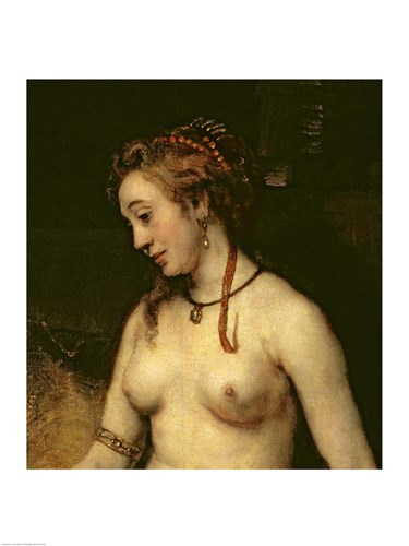Bathsheba Bathing, 1654 Poster by Rembrandt van Rijn for $30.00 CAD