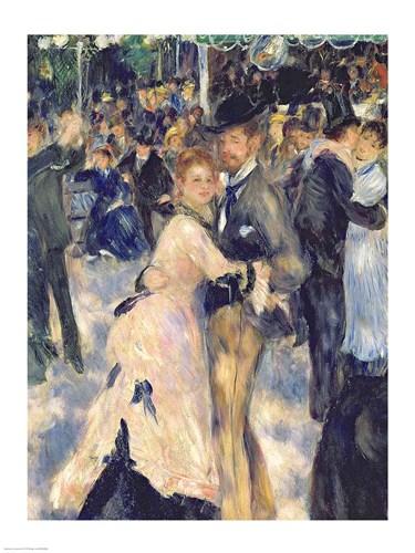 Ball at the Moulin de la Galette, 1876 - close up Poster by Pierre-Auguste Renoir for $30.00 CAD