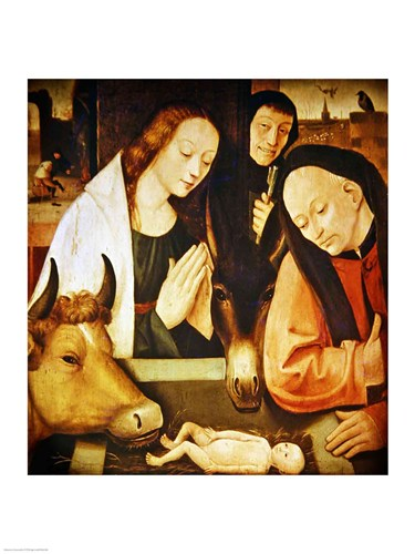 Adoration of the Shepherds Poster by Hieronymus Bosch for $32.50 CAD