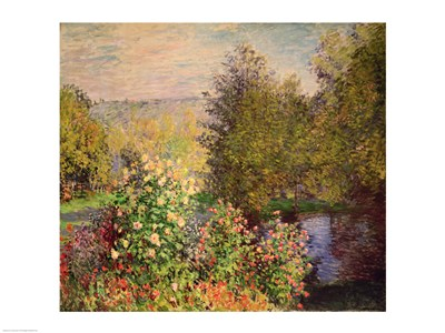 A Corner of the Garden at Montgeron, 1876-7 Poster by Claude Monet for $30.00 CAD