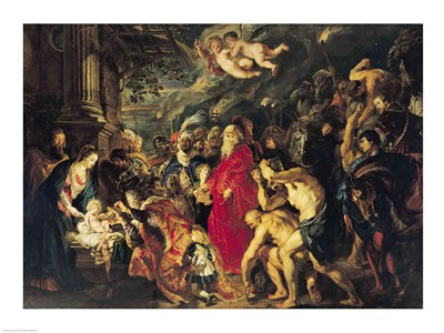 Adoration of the Magi, 1610 Poster by Peter Paul Rubens for $32.50 CAD