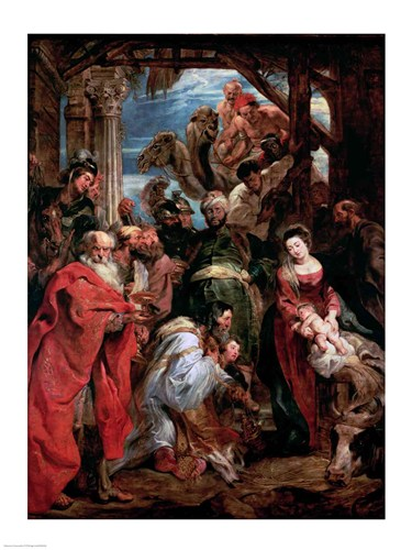 Adoration of the Magi, 1624 Poster by Peter Paul Rubens for $32.50 CAD