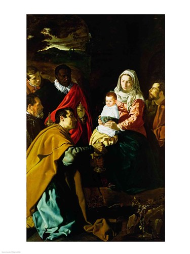 Adoration of the Kings, 1619 Poster by Diego Velazquez for $32.50 CAD