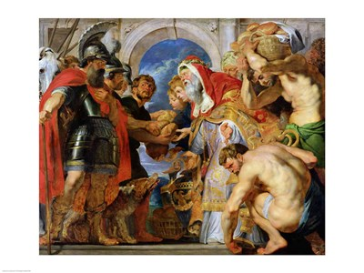 Abraham and Melchizedek Poster by Peter Paul Rubens for $32.50 CAD