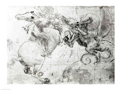 Battle between a Rider and a Dragon, c.1482 Poster by Leonardo Da Vinci for $30.00 CAD
