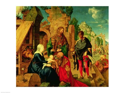 Adoration of the Magi, 1504 Poster by Albrecht Durer for $32.50 CAD