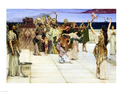 A Dedication to Bacchus, 1889 Poster by Sir Lawrence Alma-Tadema for $30.00 CAD