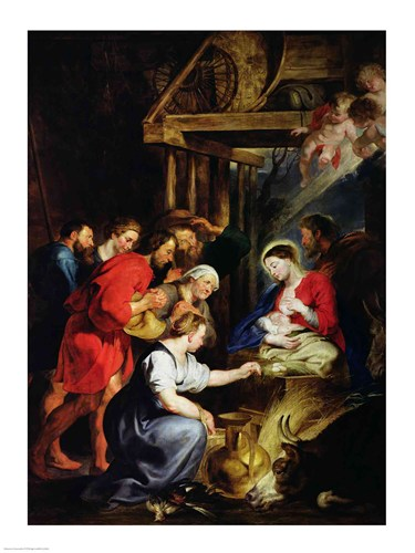 Adoration of the Shepherds Poster by Peter Paul Rubens for $32.50 CAD