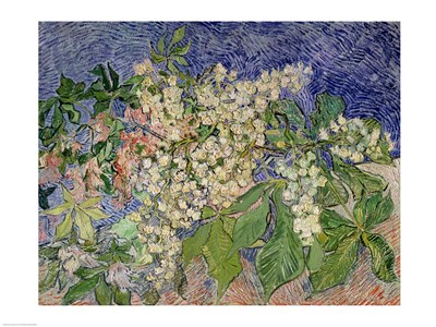 Blossoming Chestnut Branches, 1890 Poster by Vincent Van Gogh for $32.50 CAD
